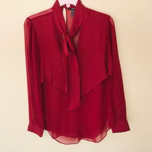 Forever21 Crimson Red Top